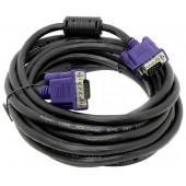 Кабель Aopen <AСG341AD-5м> Кабель монитор - SVGA card (15M -15M) 5м  2 фильтра